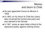 mexico and return to chile