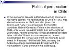 political persecution in chile