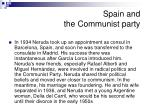 spain and the communist party