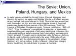 the soviet union poland hungary and mexico