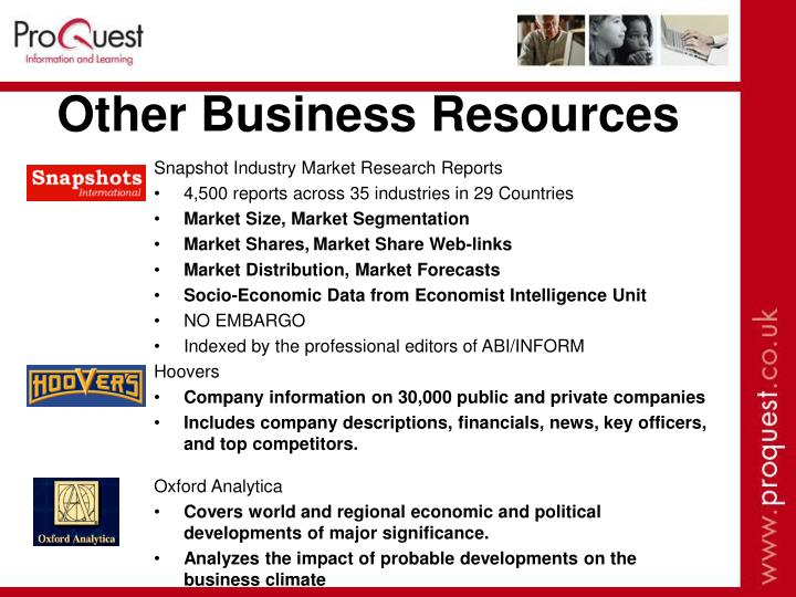 Other Business Resources