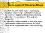 conclusions and recommendations25