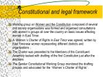 constitutional and legal framework
