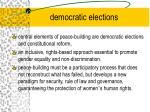democratic elections