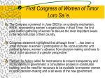 first congress of women of timor loro sa e