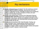 key mechanisms