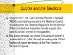 quotas and the elections