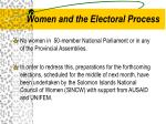 women and the electoral process