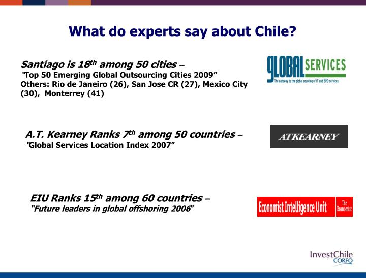What do experts say about chile