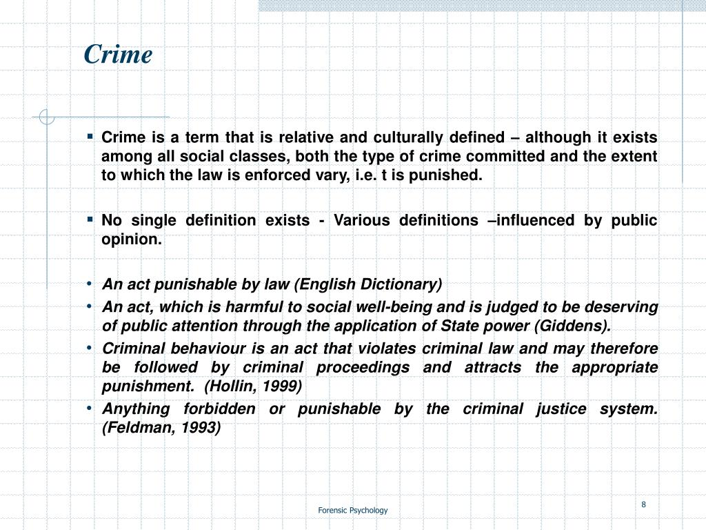 Ppt Forensic Psychology Lecture 1 Powerpoint Presentation Free Download Id 1090917