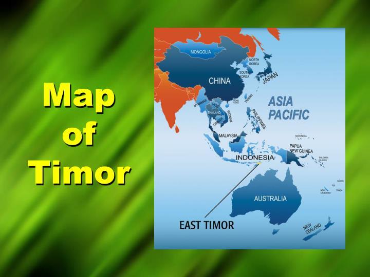 Map of timor