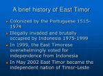 a brief history of east timor