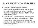 iv capacity constraints