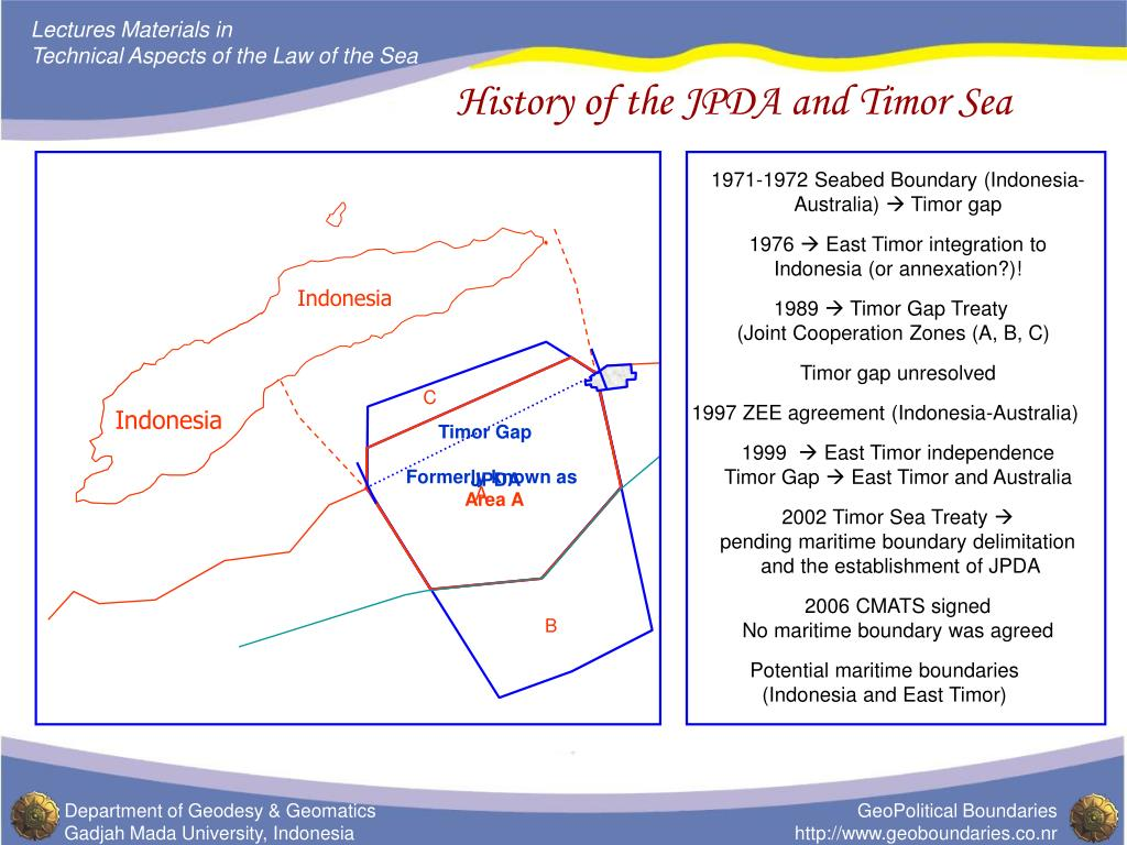 history of the jpda and timor sea l.