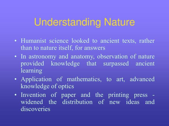 Understanding Nature
