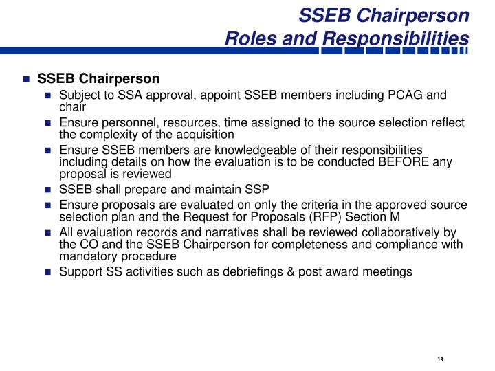 SSEB Chairperson