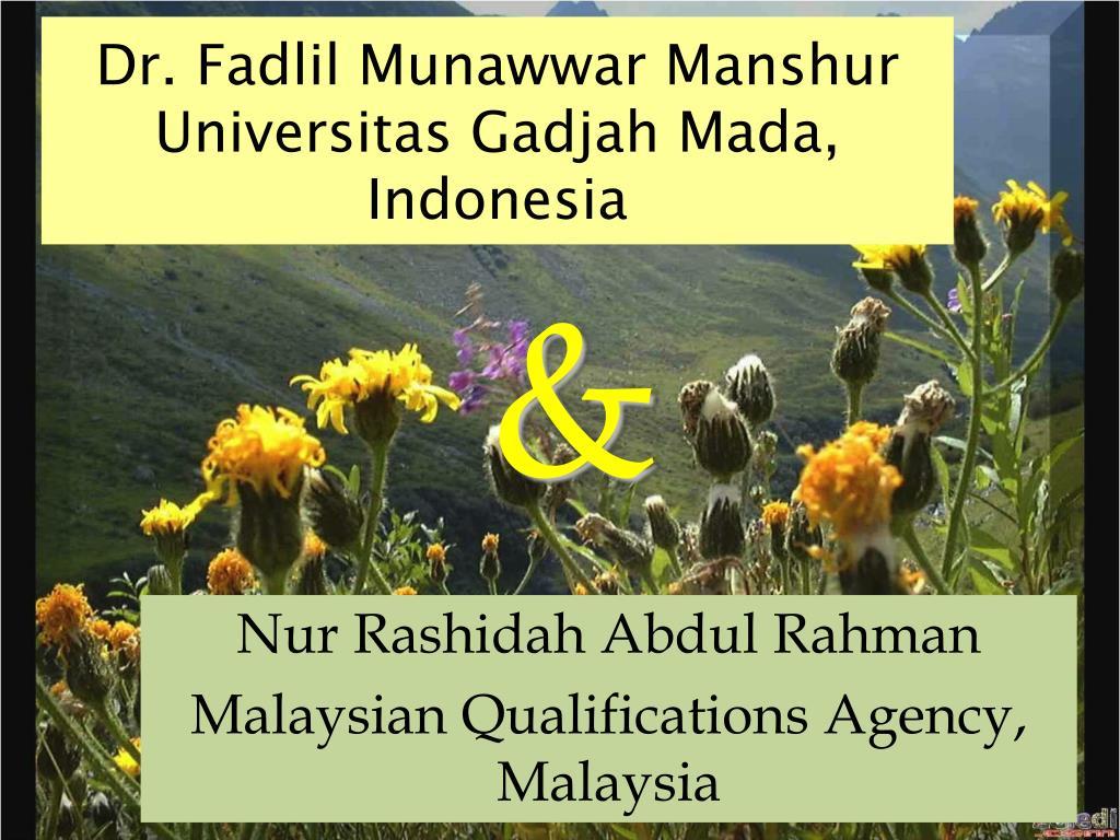 dr fadlil munawwar manshur universitas gadjah mada indonesia l.