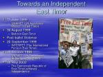 towards an independent east timor