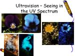 ultravision seeing in the uv spectrum