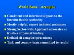 world bank strengths