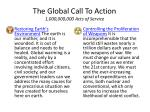 the global call to action 1 000 000 000 acts of service11