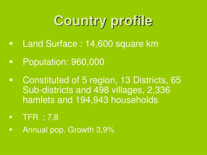 Country profile