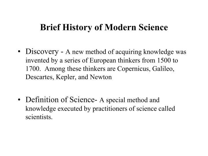 brief history of modern science n.