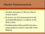 muslim fundamentalism