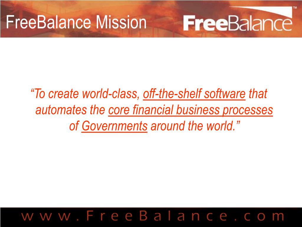 FreeBalance Mission