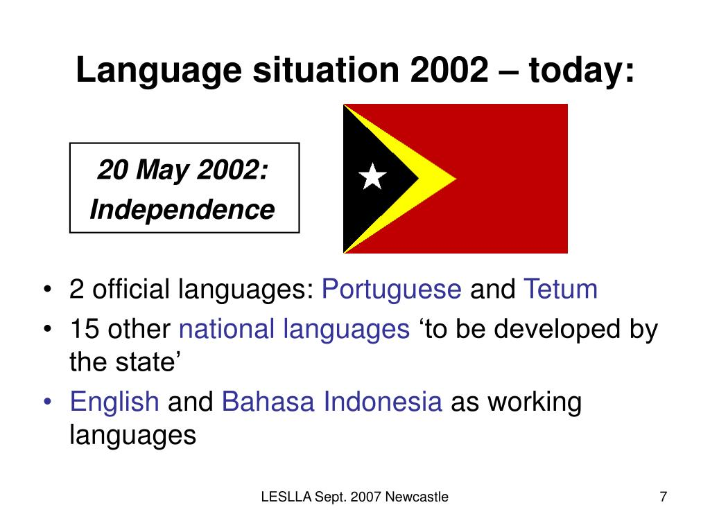 Language situation 2002 – today: