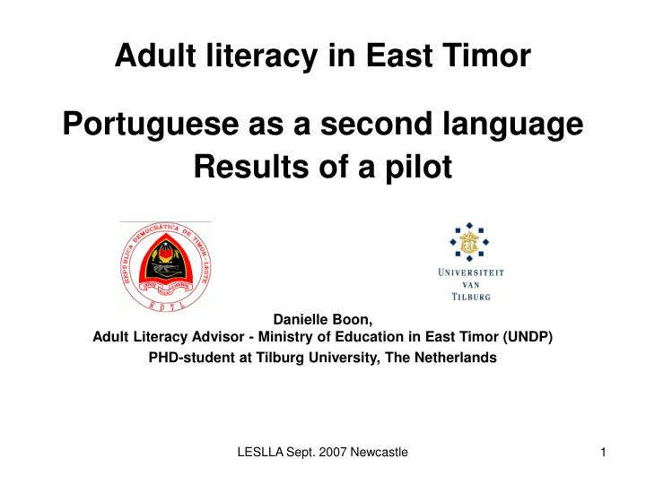 Adult literacy in East Timor