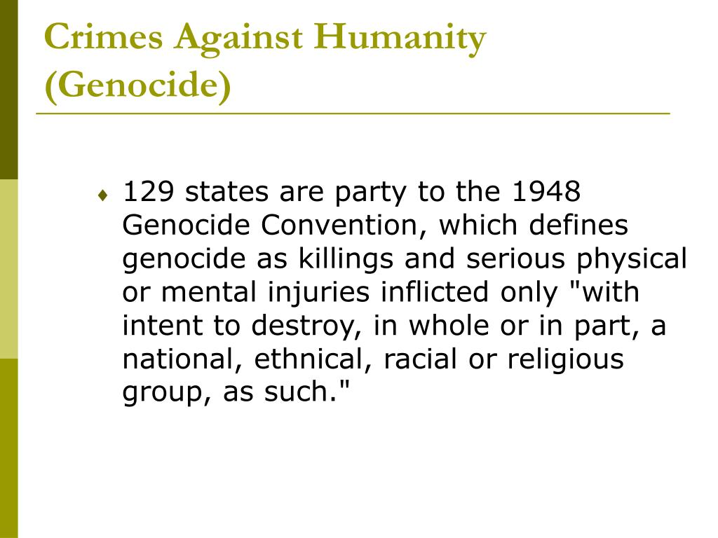 Crimes Against Humanity (Genocide)