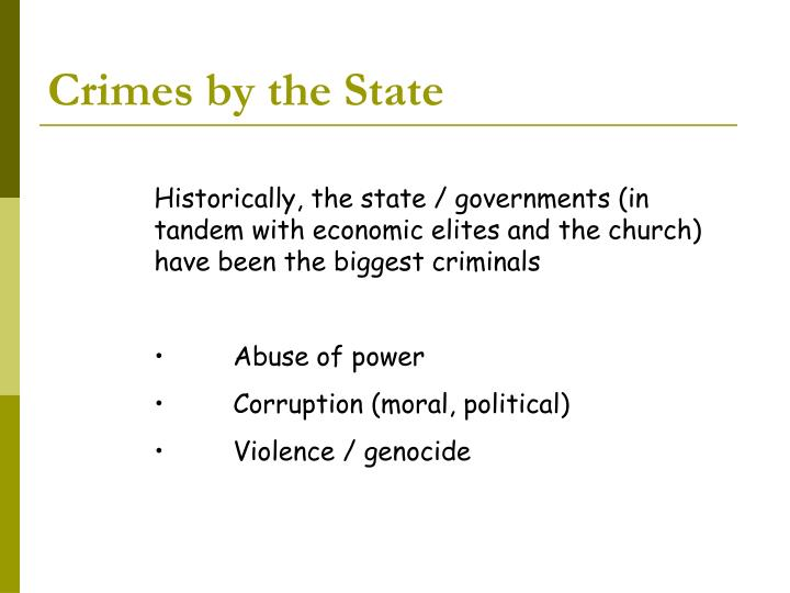 Crimes by the state