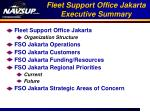 fleet support office jakarta executive summary