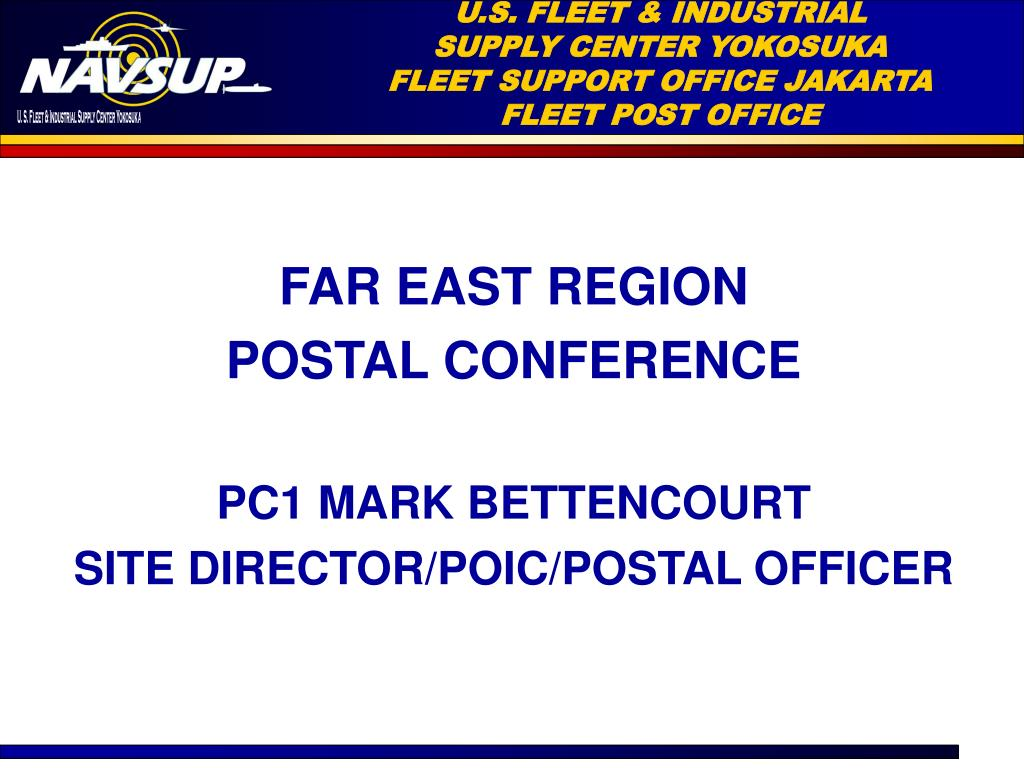 u s fleet industrial supply center yokosuka fleet support office jakarta fleet post office l.