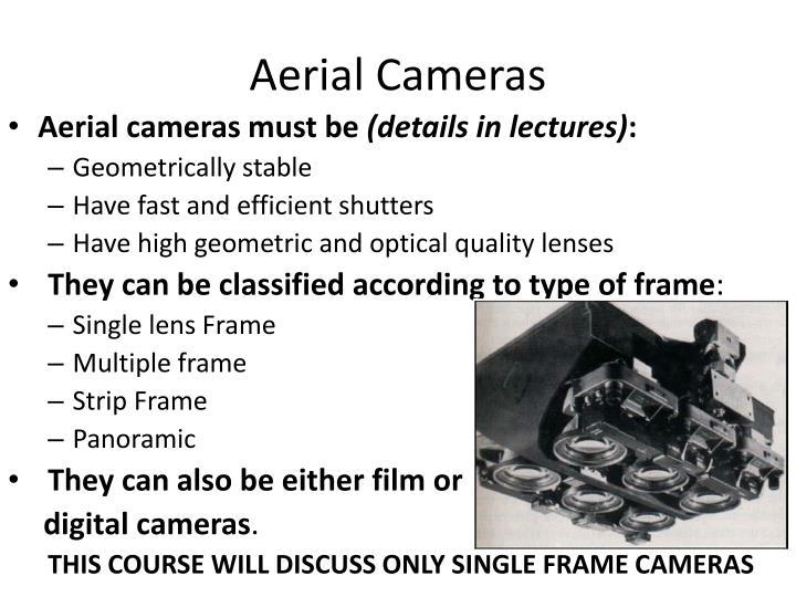 Aerial cameras