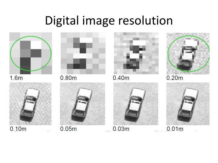 Digital image resolution