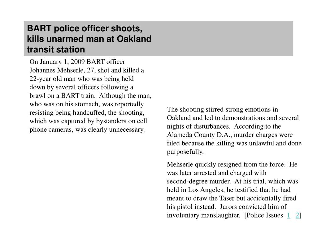 BART police officer shoots,