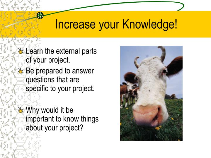 Increase your Knowledge!