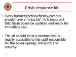 crisis response kit