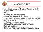 response issues37