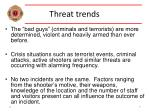 threat trends