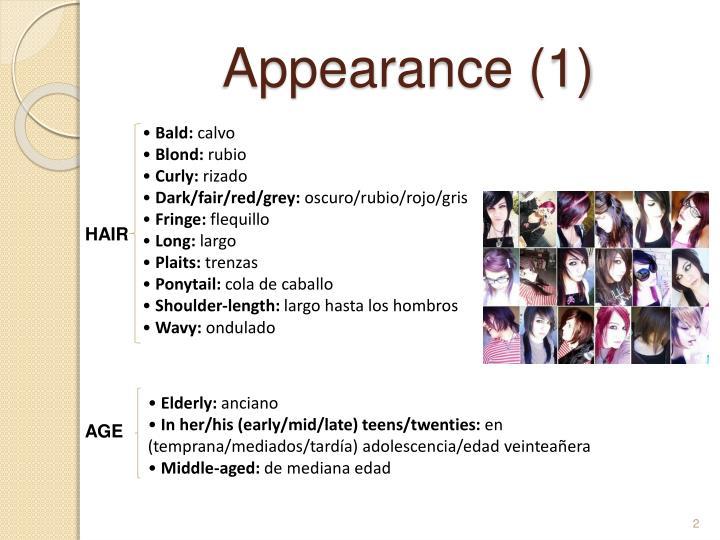 Appearance 1