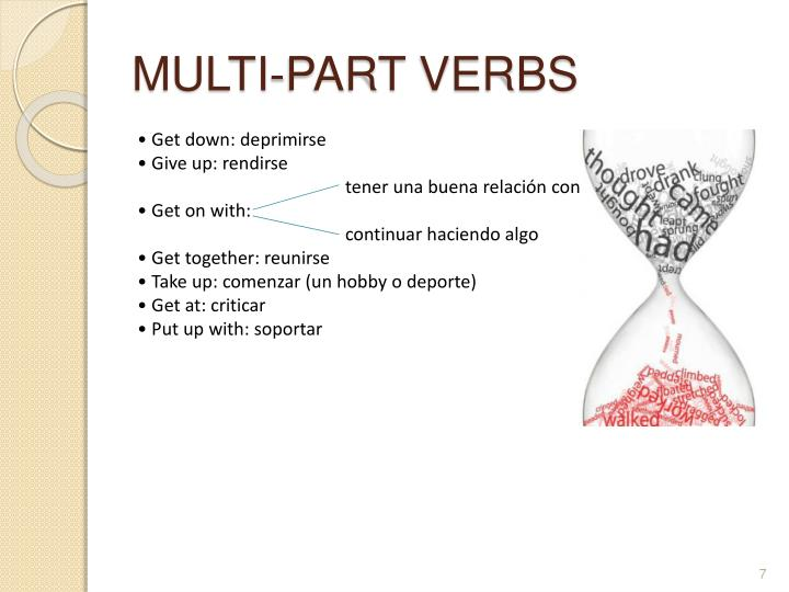 MULTI-PART VERBS