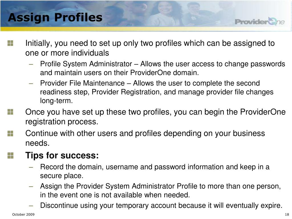 Assign Profiles
