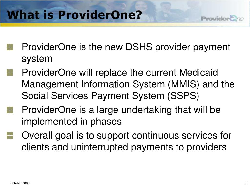 What is ProviderOne?