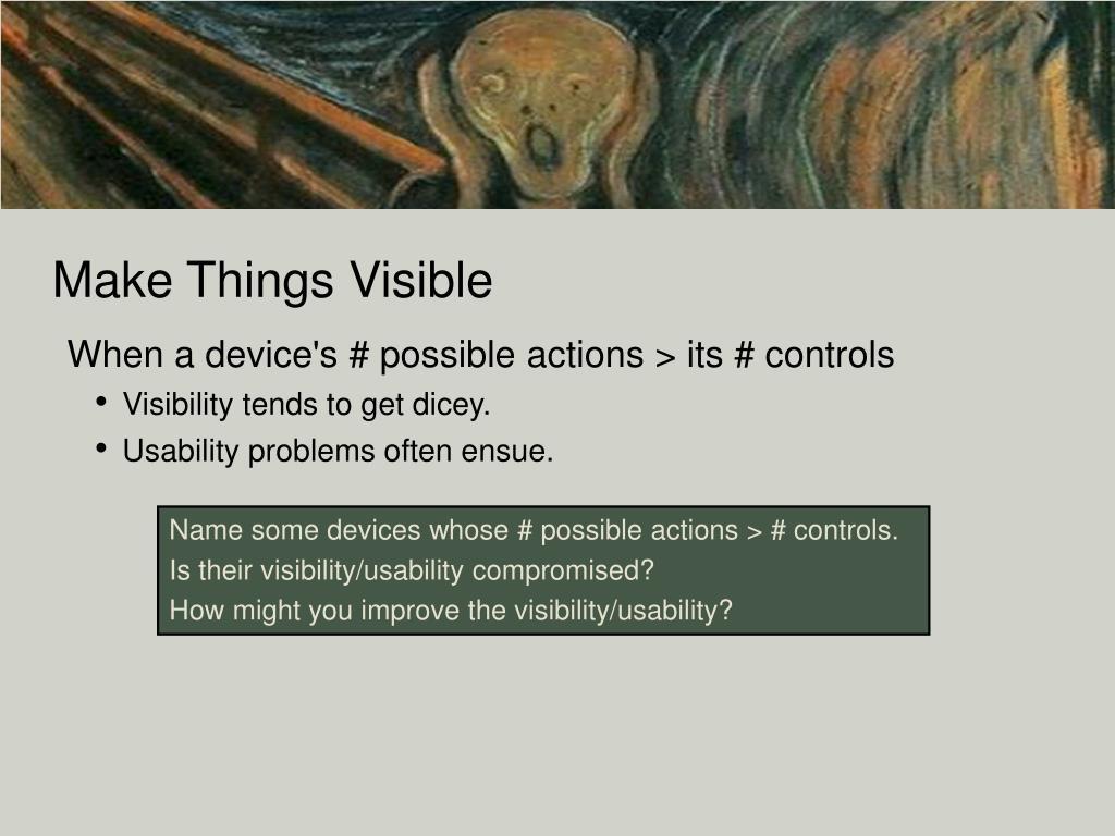 Make Things Visible