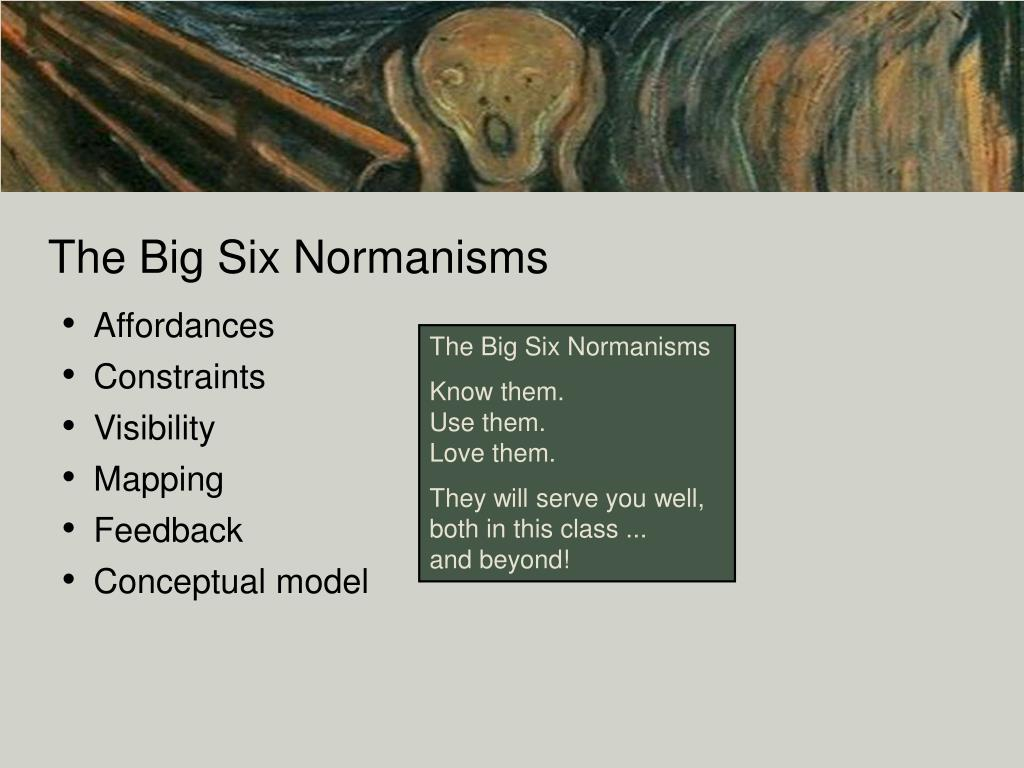 The Big Six Normanisms