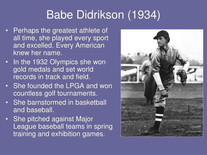 Babe Didrikson (1934)