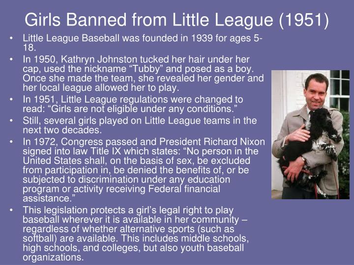 Girls Banned from Little League (1951)